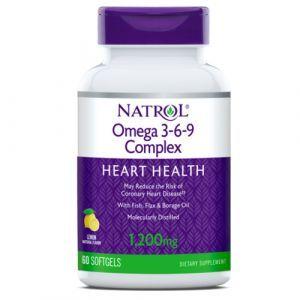 Омега 3-6-9, Omega-3 Cmplx 55% 3-6-9, Natrol, 60 гелевых капсул