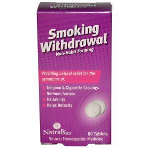 Таблетки от курения, Smoking Withdrawal, NatraBio, 60 таб.