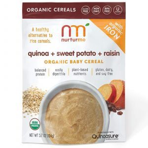 Натуральная детская каша, Quinoa + Sweet Potato + Raisin, NurturMe, 104 г