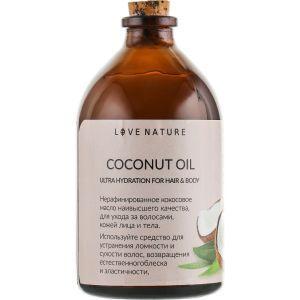 Кокосовое масло для волос и тела, Coconut Oil, Love Nature, нерафинированное, 100 г