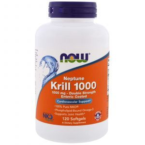Масло криля, Neptune Krill 1000, Now Foods, 1000 мг, 120 капсул