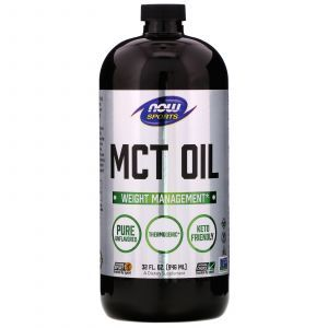 Масло МСТ, MCT Oil, Sports, Now Foods, 946 мл