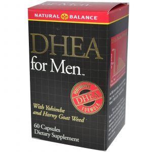 ДГЭА Дегидроэпиандростерон, DHEA for Men, Natural Balance, 60 кап.