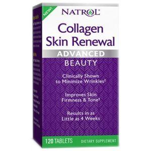 Коллаген для восстановления кожи, Collagen Skin Renewal, Natrol, 120 таблеток