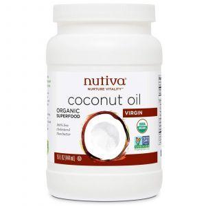 Кокосовое масло холодного отжима, Nutiva, 444 мл