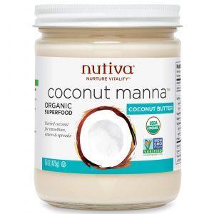 Кокосовое пюре, Coconut Manna, Nutiva, 425 мл