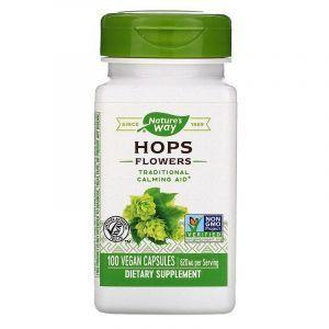 Хмель (цветы), Hops, Nature's Way, 620 мг, 100 кап.