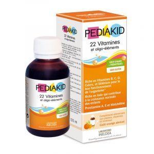 Мультивитамины для детей, сироп, 22 Vitamins & minerals, Pediakid, 125 мл