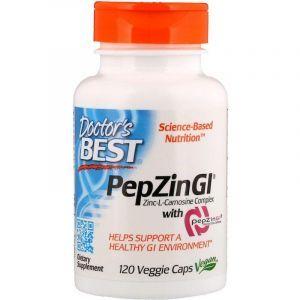 Цинк карнозин, Zinc-L-Carnosine, Doctor's Best, комплекс, 120 капсул.