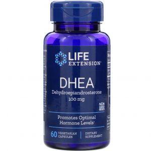 ДГЭА, DHEA, Life Extension, 100 мг, 60 капс