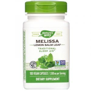 Мелисса, Melissa, Nature's Way, лимонный бальзам, 1500 мг, 100 капсул