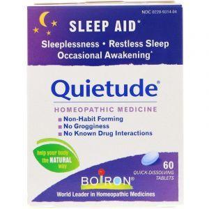 Формула для сна, Quietude, Sleep Aid, Boiron, 60 быстрорастворимых таблеток
