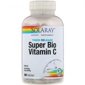 Буферизированный витамин С, Bio C Buffered, Solaray, 360 капсул