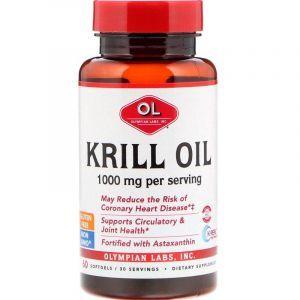 Масло криля, Krill Oil, Olympian Labs Inc, 1000 мг, 60 капcул (Default)