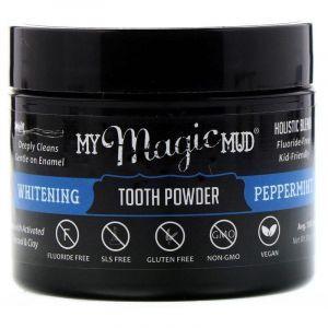 Отбеливающий зубной порошок, Whitening Tooth Powder, My Magic Mud, мята перечная, 30 г