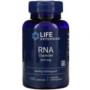 РНК рибонуклеиновая кислота, RNA, Life Extension, 500 мг, 100 капсул