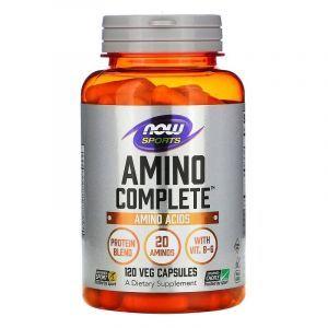Амино комплекс, Amino Complete, Now Foods, 120 капсул