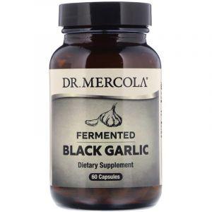 Чёрный чеснок, Black Garlic, Dr. Mercola, ферментированный, 60 капсул