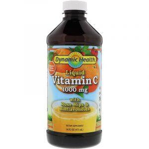 Витамин С, цитрусовый вкус, Liquid Vitamin C, Dynamic Health, жидкий, 1000 мг, 473 мл
