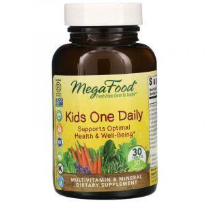 Витамины для детей, Kid's One Daily, MegaFood, 1 в день, 30 таблеток