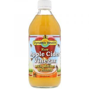 Яблочный уксус с медом, Apple Cider Vinegar, Dynamic Health Laboratories, 473 мл