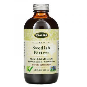 Водный экстракт шведских трав (Swedish Bitters), Flora, 250 мл