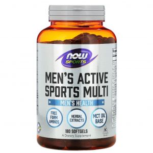 Мультивитамины для мужчин, Now Foods, 180 кап.