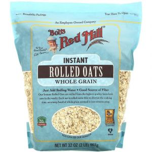 Овсяные хлопья быстрого приготовления, Instant Rolled Oats, Bob's Red Mill, цельнозерновые, 907 г