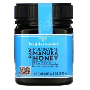 Мед Манука, Raw Manuka Honey , Wedderspoon Organic, 250 г.