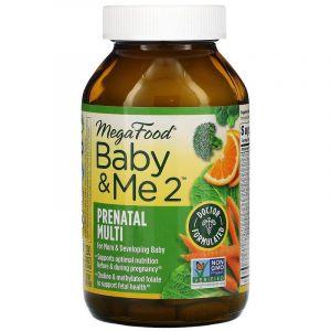 Витамины для беременных 2, Baby & Me 2, MegaFood, 120 таблеток