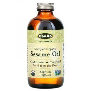Кунжутное масло (Sesame Oil), Flora, 250 мл