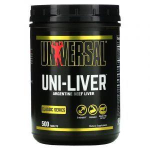 Сушеная говяжья печень, (Uni-Liver Desiccated Liver), Universal Nutrition, 500 таблеток
