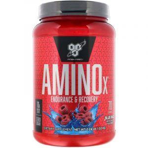 Аминокислоты и ВСАА, ежевика, Amino X, BSN, 1,01 кг.