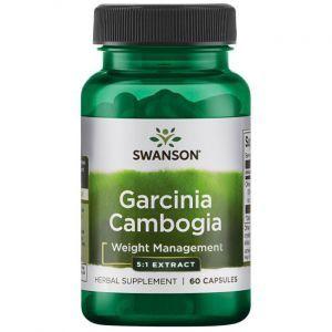 Гарциния камбоджийская, Garcinia Cambogia 5:1 Extract, Swanson, 80 мг, 60 капсул