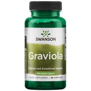 Гравиола, Graviola, Swanson, 530 мг, 60 капсул