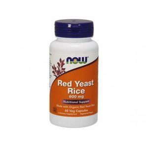 Red Yeast Rice, Now Foods, 600 мг, 60 капсул