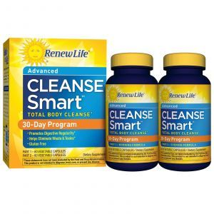 Полное очищение организма, CleanseSmart, Renew Life, 30-дневный курс