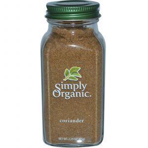 Кориандр, Coriander, Simply Organic, 65 г