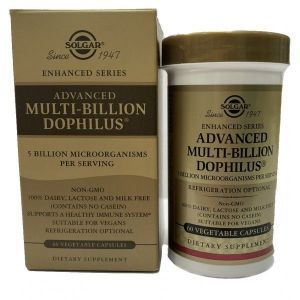 Пробиотики дофилус, Multi-Billion Dophilus, Solgar, комплекс, 60 капсул (Default)