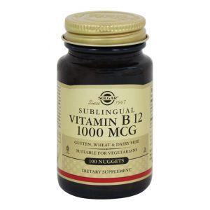 Витамин В12 сублингвальный, Vitamin B12 1000 mcg Sublingual, Solgar, 1000 мкг, 100 таблеток (Default)
