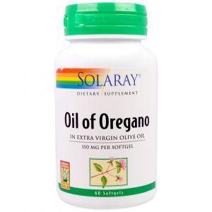 Масло орегано, Oil of Oregano, Solaray, 150 мг, 60 капсул