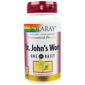 Зверобой, St. John's Wort, Solaray, 60 таблеток