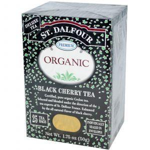 Органический цейлонский чай с натуральным вкусом черной вишни, Ceylon Tea, St. Dalfour, 50 г
