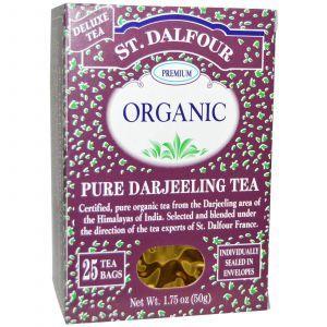 Органический чай Дарджилинг, Earl Grey Tea, St. Dalfour, 50 г
