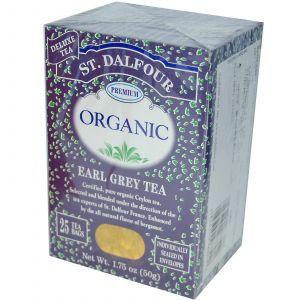 Органический чай Эрл грей, Earl Grey Tea, St. Dalfour, 50 г