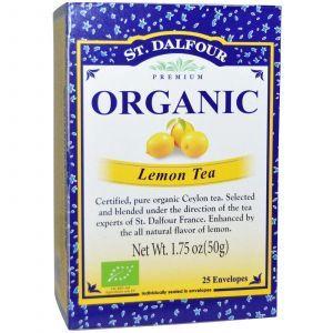 Органический лимонный чай, Organic, Lemon Tea, St. Dalfour, 50 г