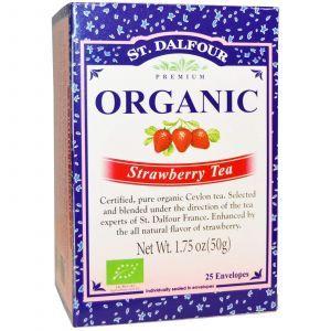 Органический клубничный чай, Organic Strawberry Tea, St. Dalfour, 50 г