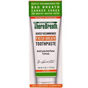 Освежающая зубная паста, Fresh Breath Toothpaste, TheraBreath, 113,5 г