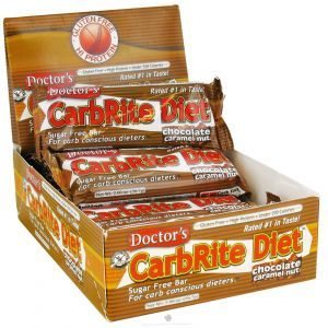 Диетические бары, шоколад, карамель, орех, (CarbRite Diet Bars), Universal Nutrition, 12 шт. по 56.7 г