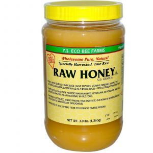Мед, Raw Honey, Y.S. Eco Bee Farms, 1,360 г.